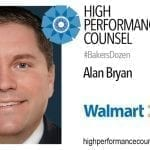 On #BakersDozen: Alan Bryan of Wal-Mart Talks To High Performance Counsel