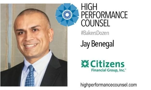 ON #BAKERSDOZEN: LEGAL SECTOR BANKING EXPERT JAY BENEGAL OF CITIZENS