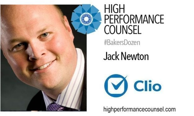 JACK NEWTON – CLIO CEO AND CO-FOUNDER – IN INTERVIEW FOR THE #BAKERSDOZEN