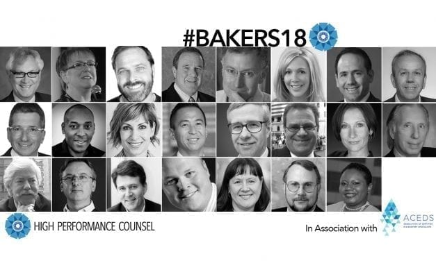 High Performance Counsel Presents Its Inaugural #Bakers18 In Association With ACEDS