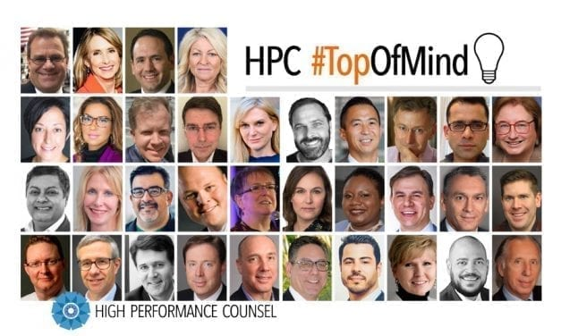 High Performance Counsel Presents: #TopOfMind