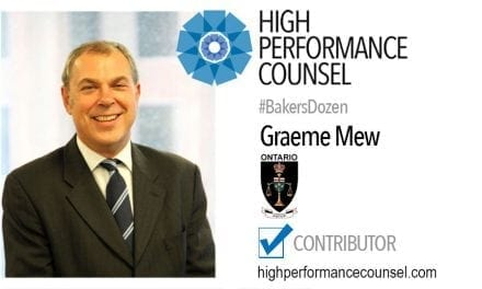 On #BakersDozen: The Hon. Mr. Justice Graeme Mew In Interview With High Performance Counsel