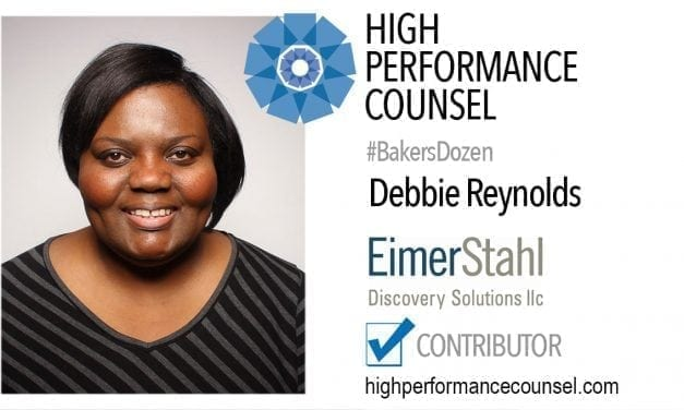 On #BakersDozen: Debbie Reynolds In Interview With High Performance Counsel