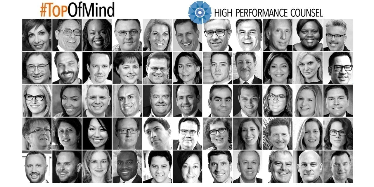 "#TopOfMind: ""Storm Rising"" in the Modern Legal Industry – presented by High Performance Counsel"