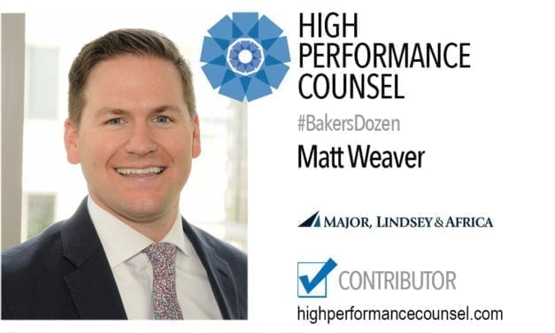 Matthew Weaver, Executive Director of MLA's Interim Legal Talent Group In Interview With High Performance Counsel