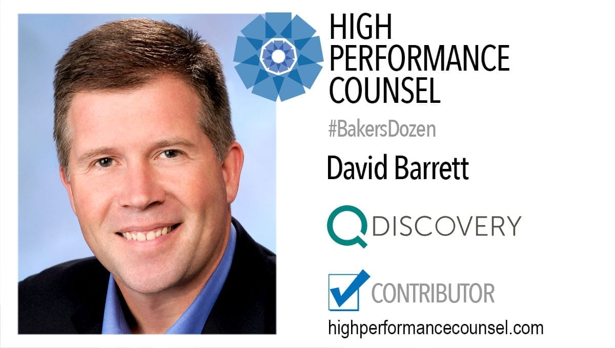 David Barrett, CEO QDiscovery