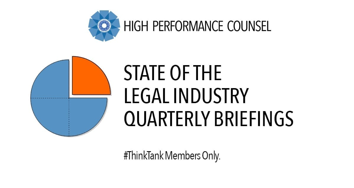 The State of the Modern Legal Industry – Presented by High Performance Counsel
