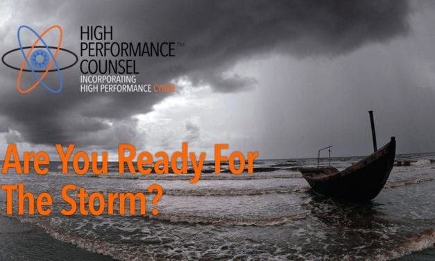Are You Ready For The Storm In The Legal Industry? Agility And Flexibility Will Be Essential To Survival – by David Kinnear