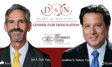 In the #Spotlight: Dorf & Nelson – Growing US Law Firm First To Receive Gender Fair Designation
